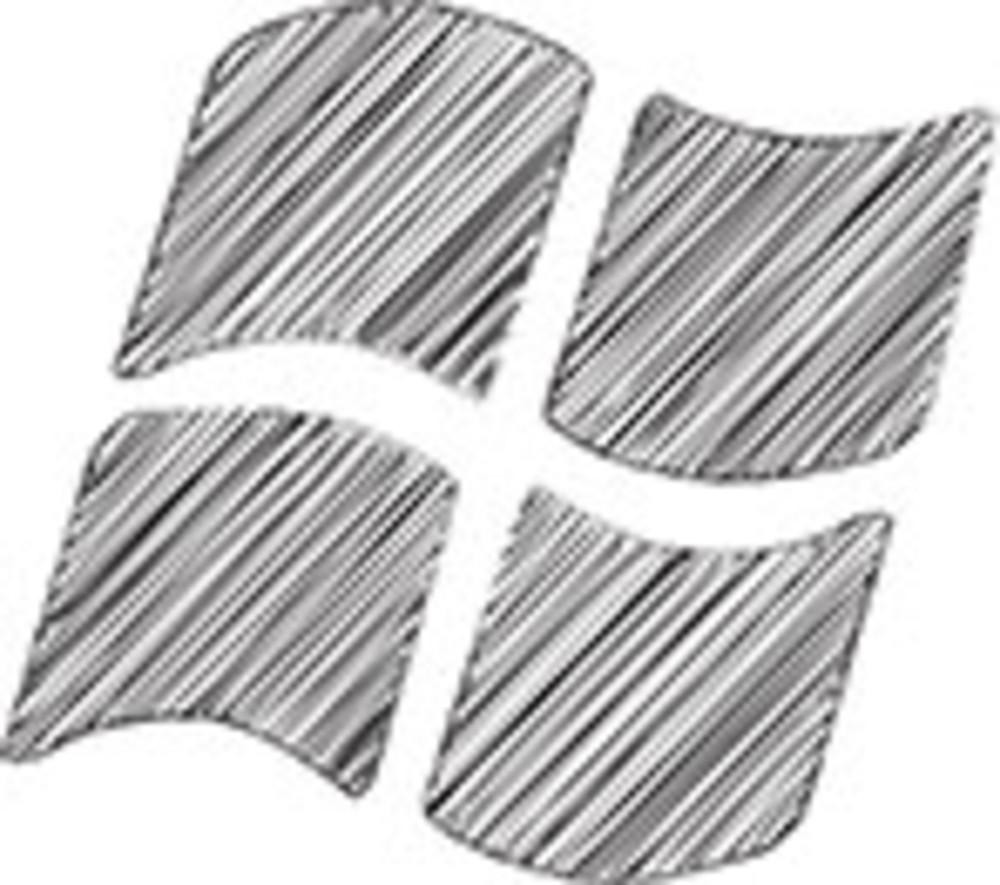 Scribbled Microsoft Windows Logo On White Background