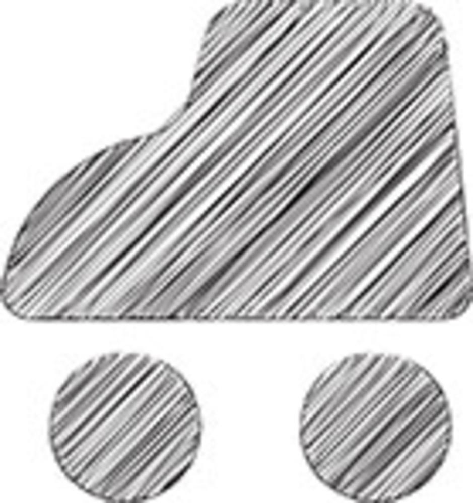 Scribbled Roller Skate On White Background