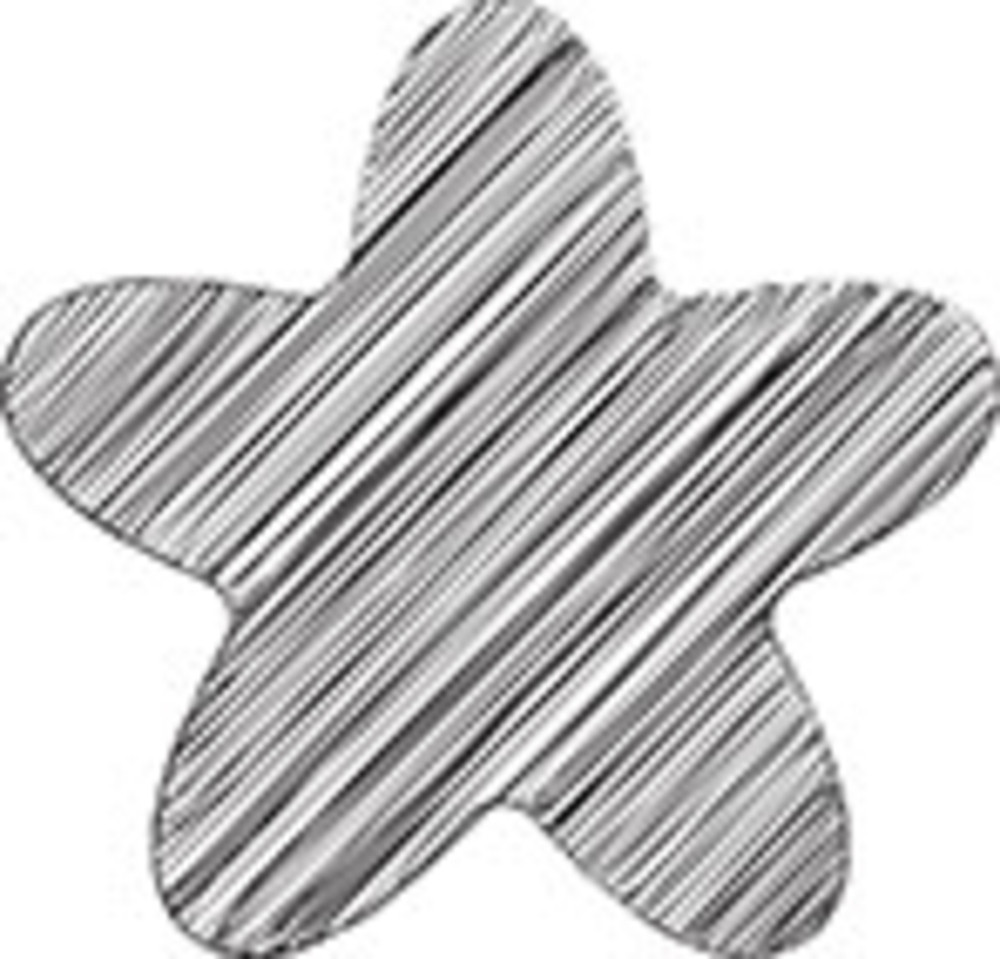Scribbled Rounded Star Icon On White Background