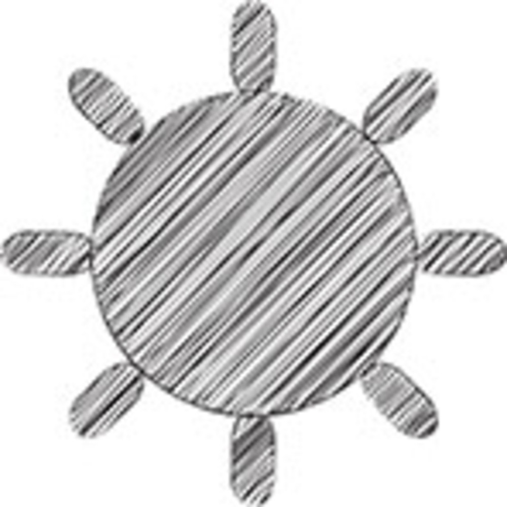 Scribbled Sun On White Background