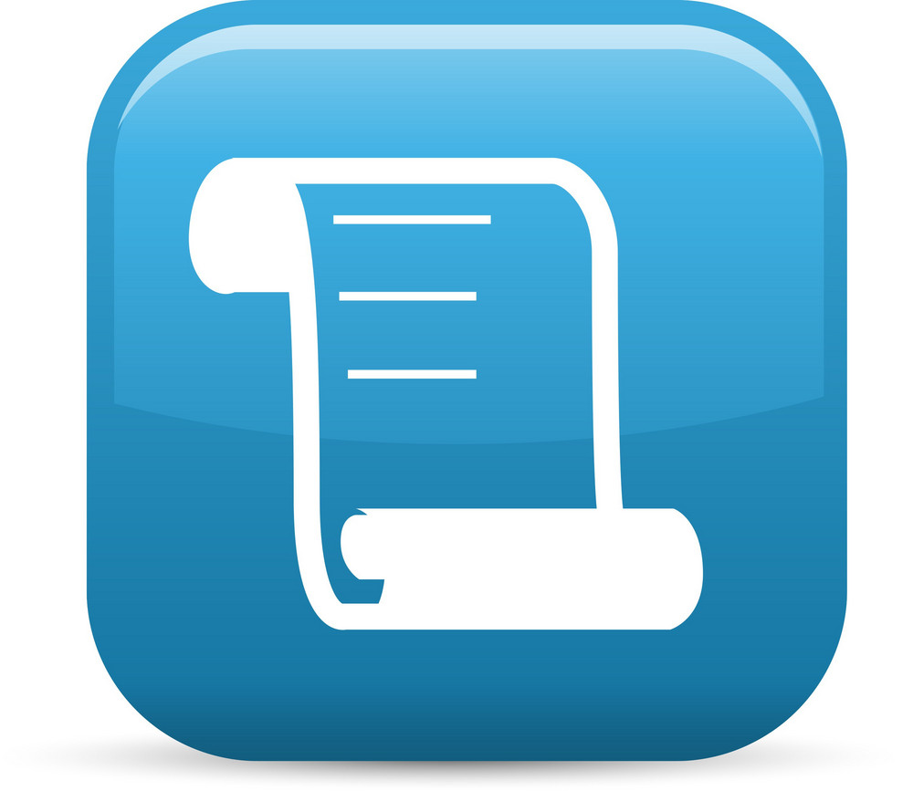 Scroll Elements Glossy Icon