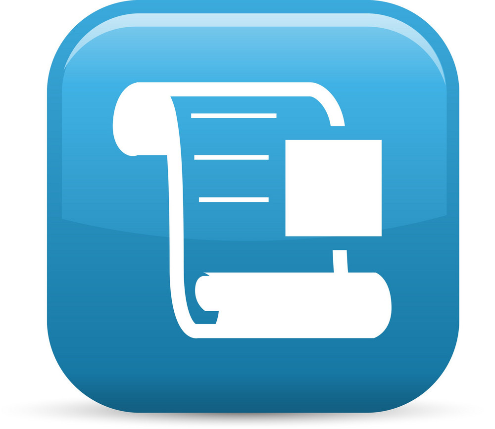 Scroll Stop Elements Glossy Icon