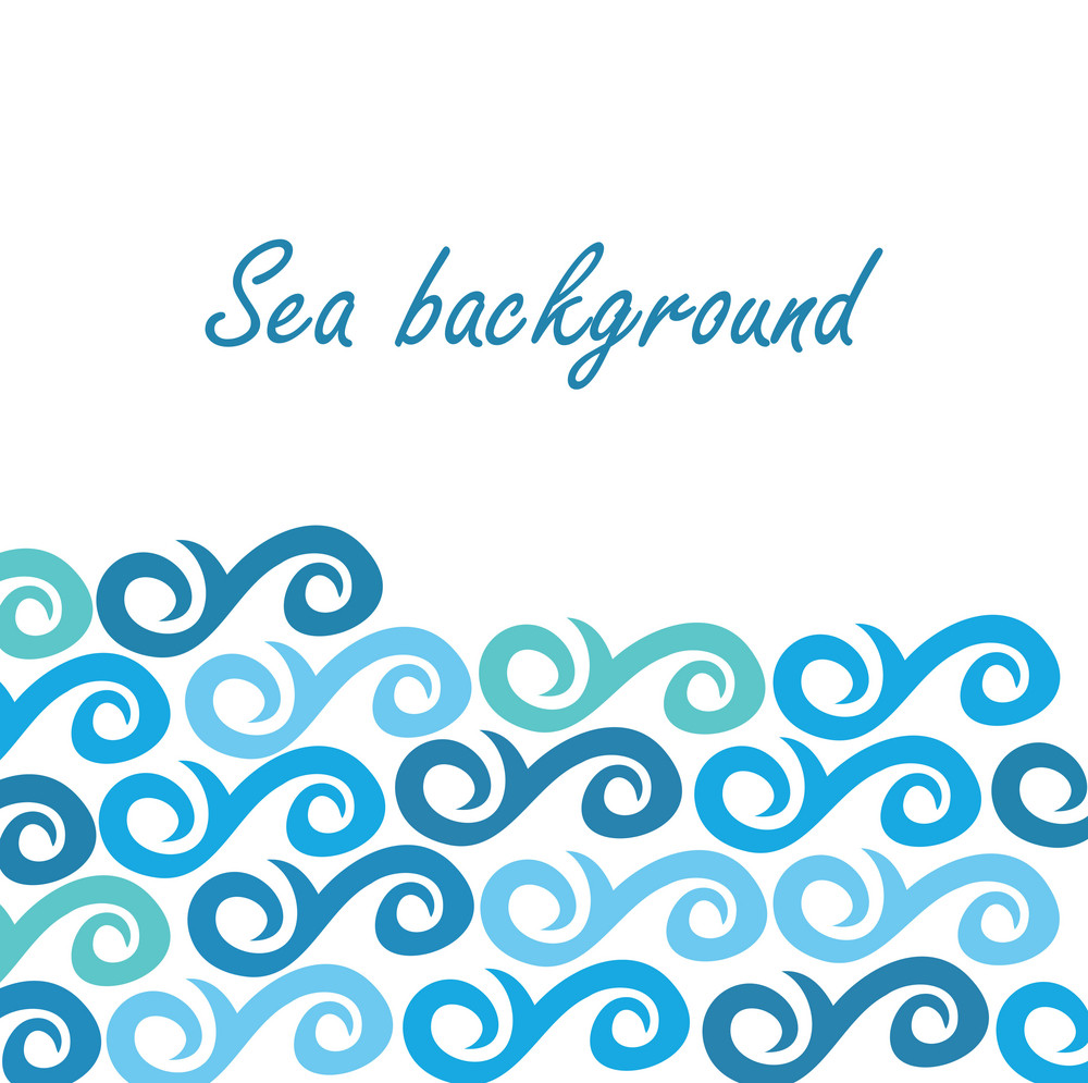 Sea Background With Abstract Waves