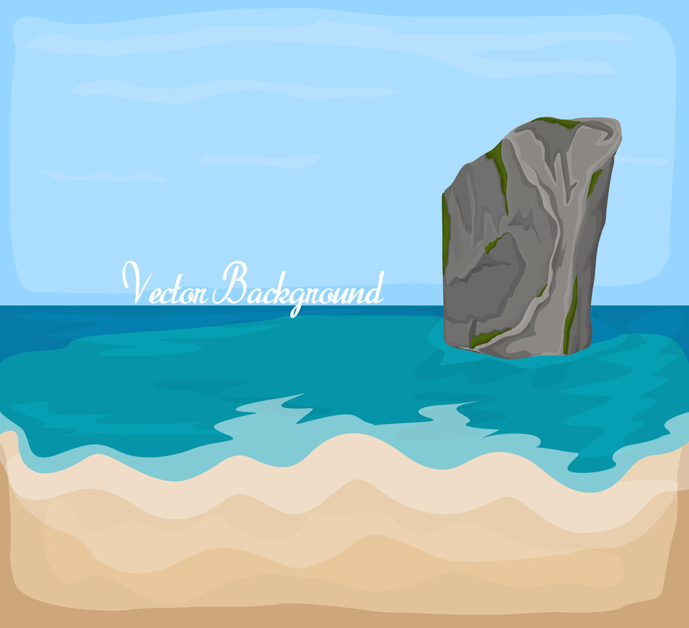 Sea Rock Vector Drawing