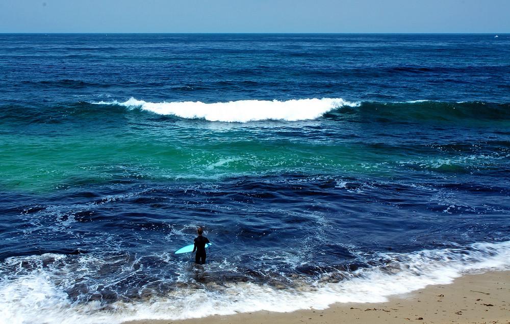 Sea Waves On Beach Background