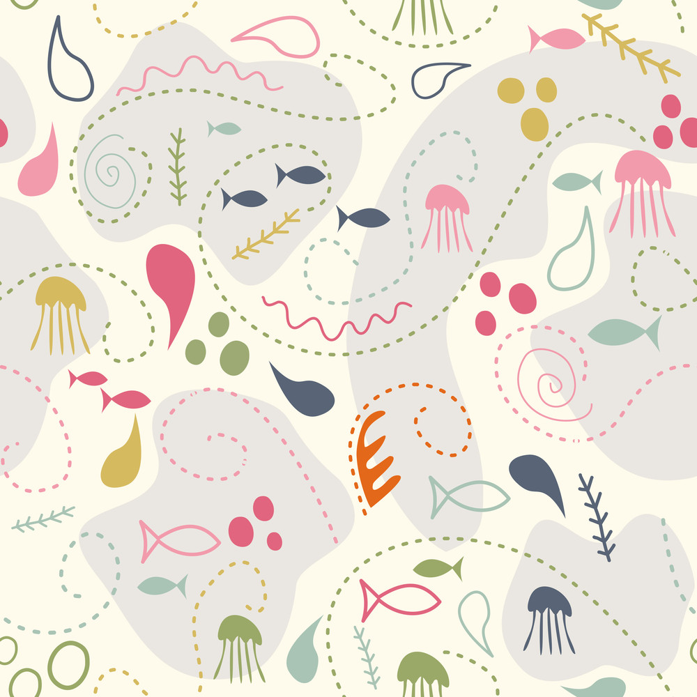Sea World Seamless Pattern
