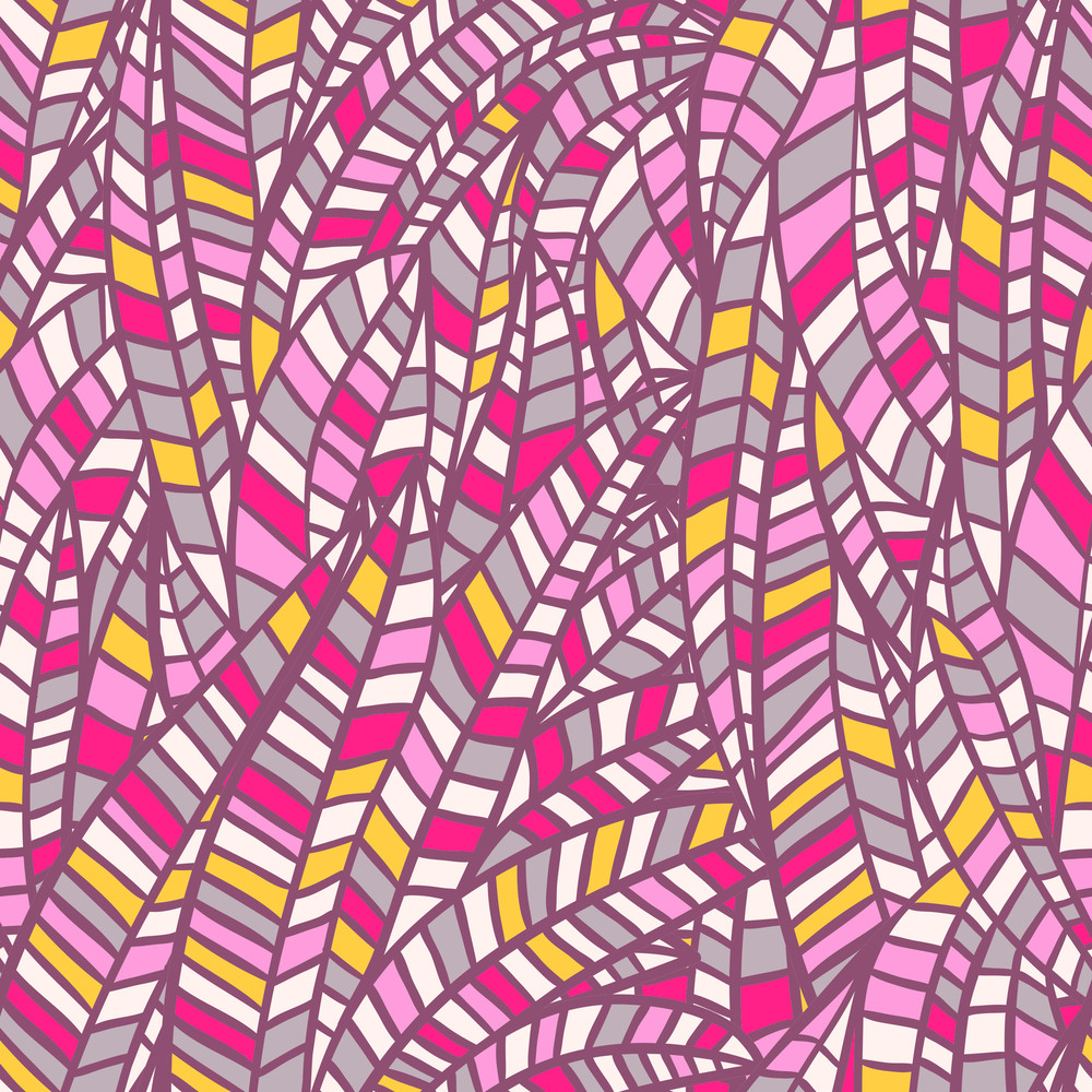 Seamless Abstract Hand-drawn Waves Pattern
