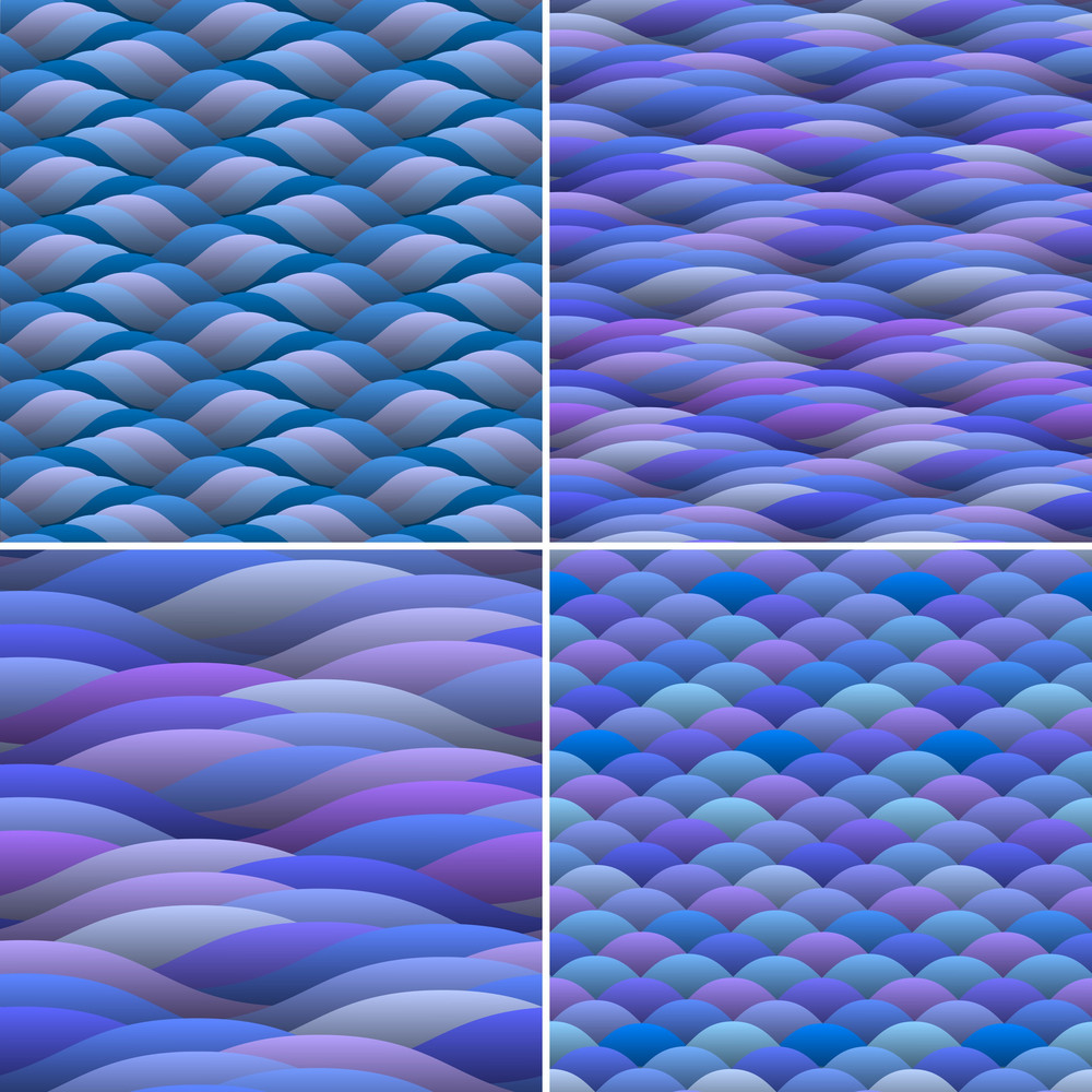 Seamless Background Of Abstract Waves