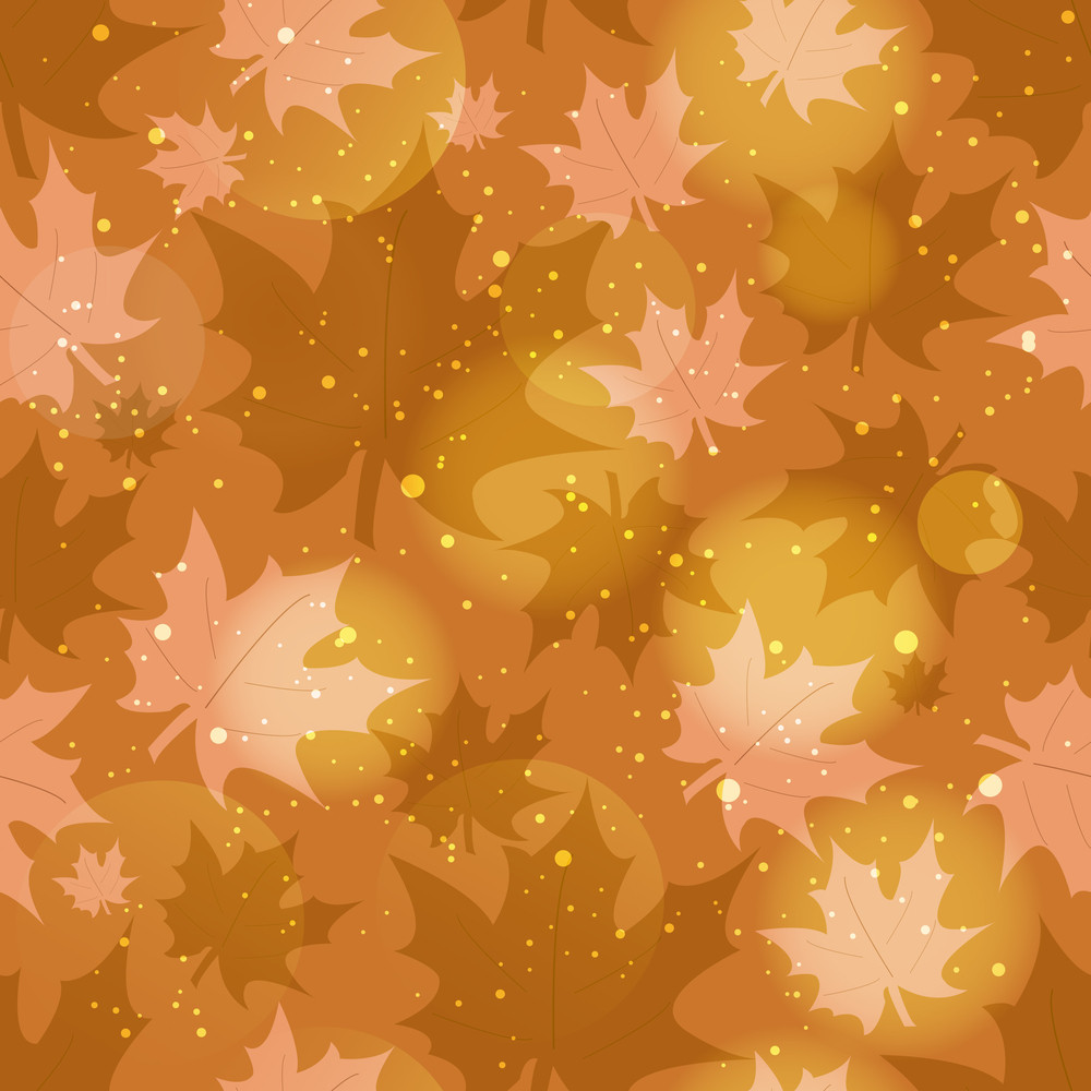 Seamless Background With Autumn Leaves.