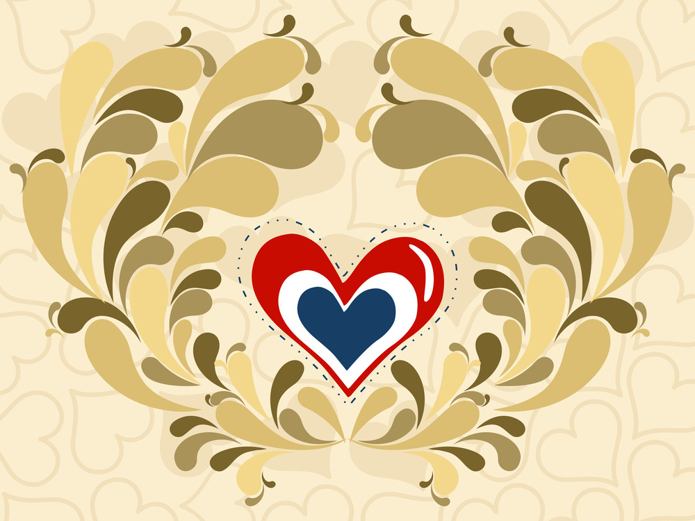 Seamless Background With Romantic Heart