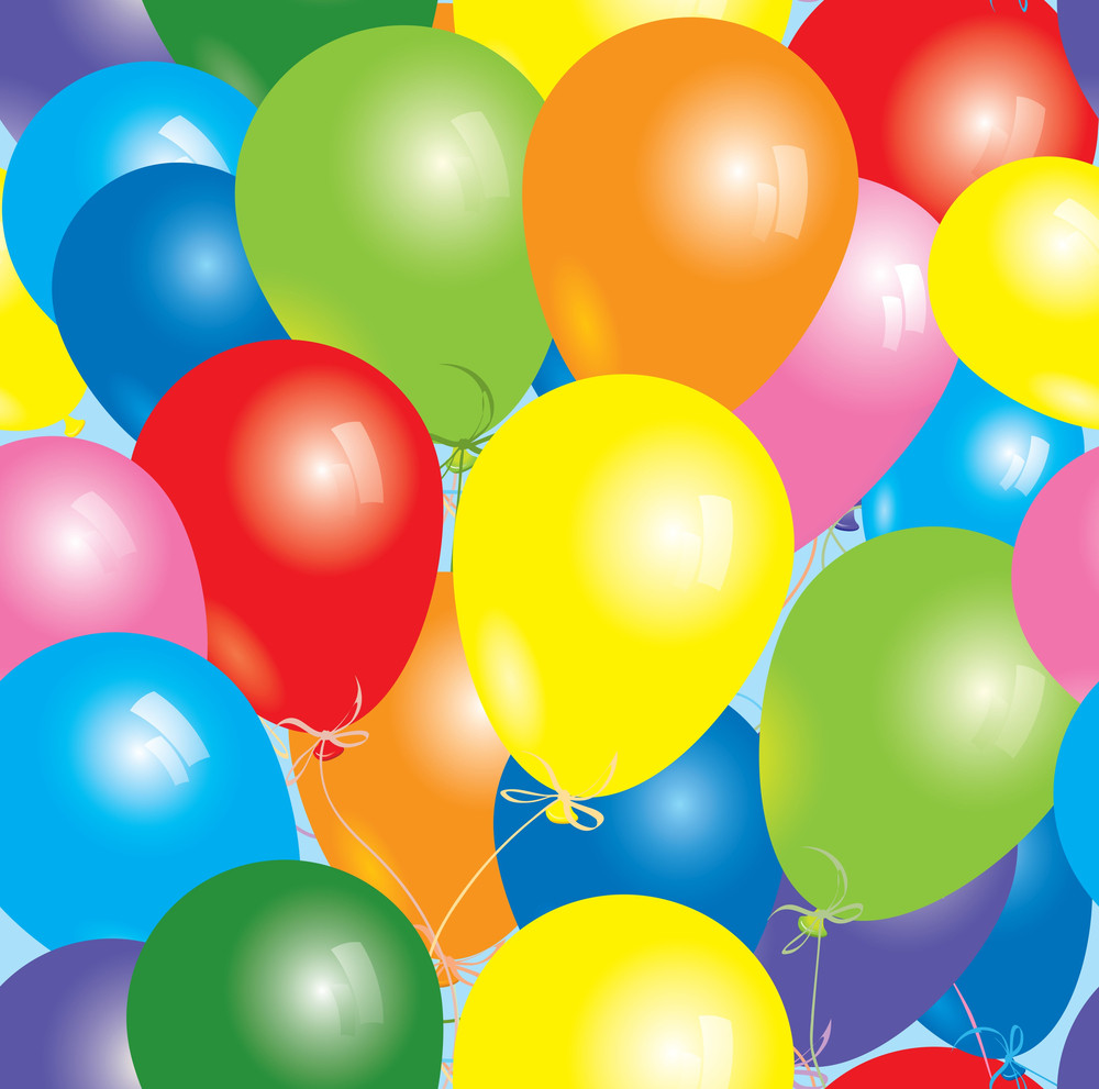 Seamless Balloons. Vector Background.