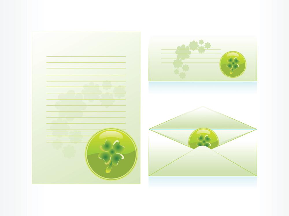 Seamless Clover Mailingcard And Letterhead