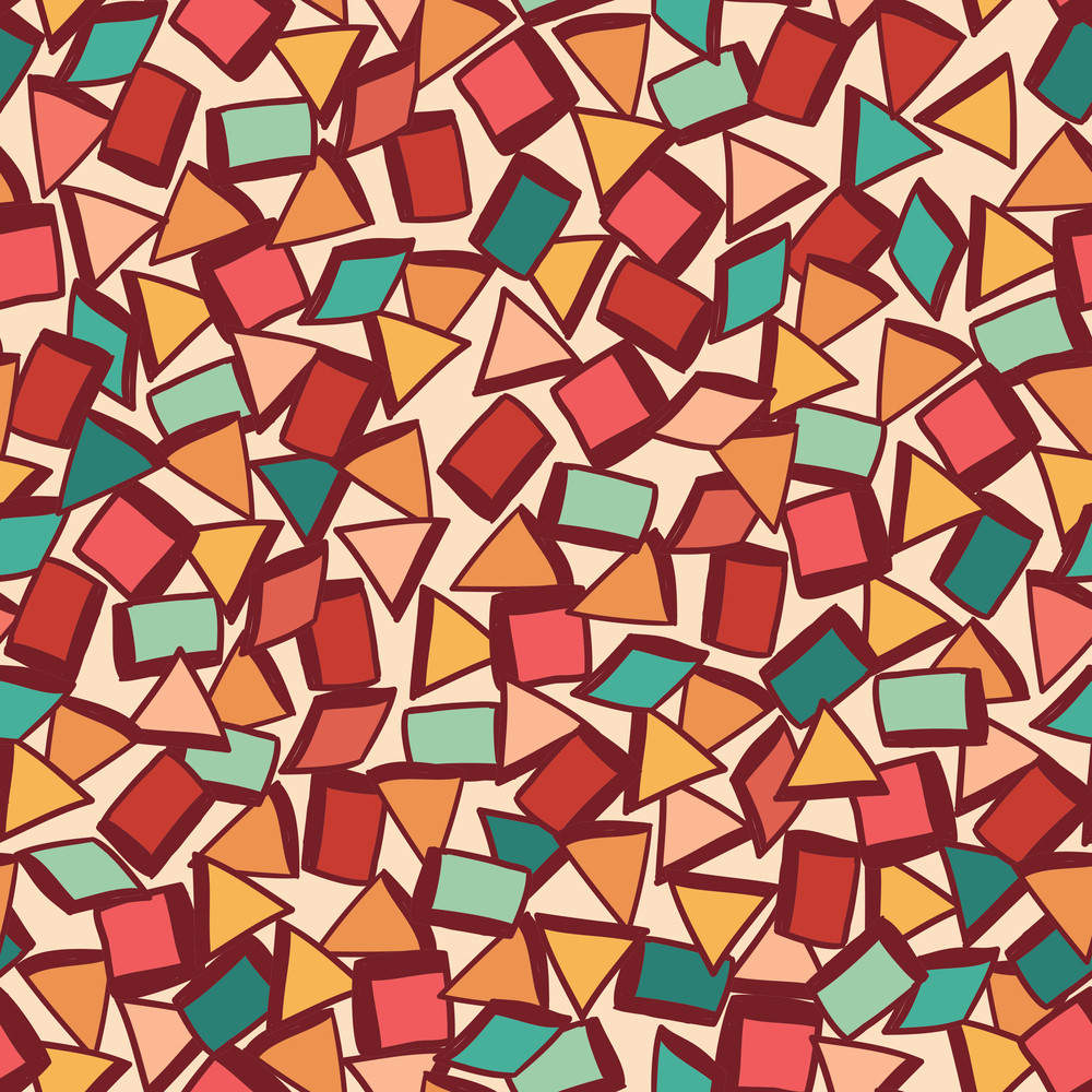 Seamless Fabric Texture With Triangles