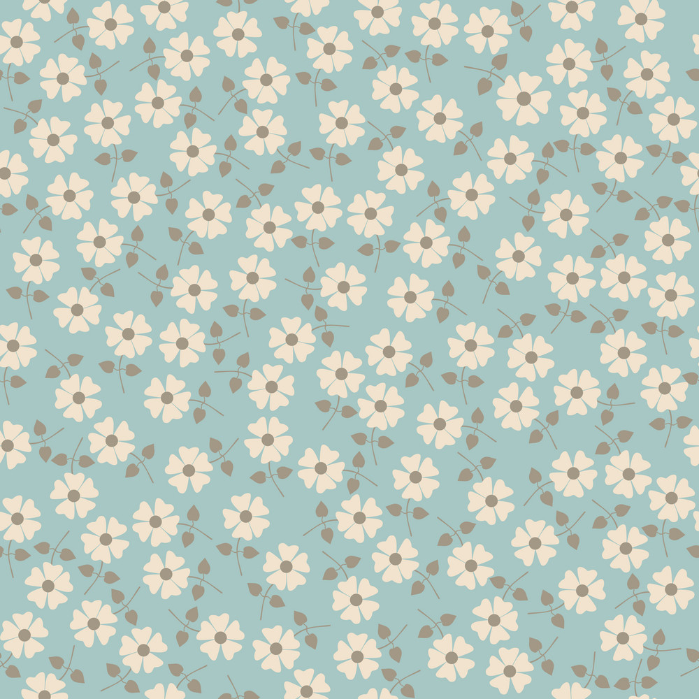 Seamless Floral Pattern. Flowers Texture. Daisy.