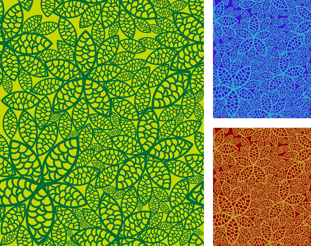 Seamless Floral Pattern Vector Set.
