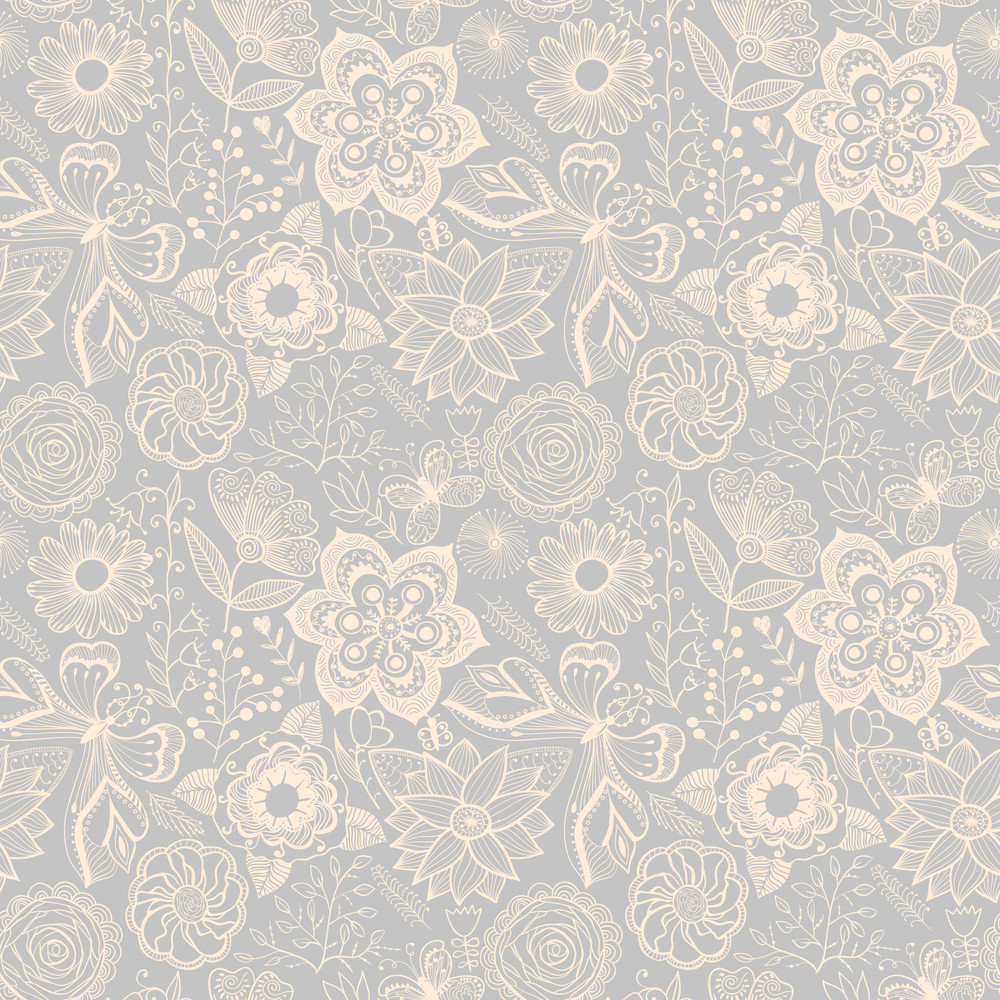 Seamless Floral Texture. Copy That Square To The Side And You'll Get Seamlessly Tiling Pattern Which Gives The Resulting Image The Ability To Be Repeated Or Tiled Without Visible Seams