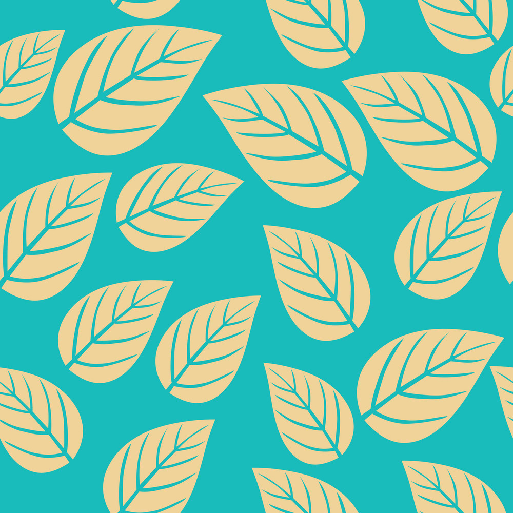 Seamless Leaf Pattern. Abstract Ornament