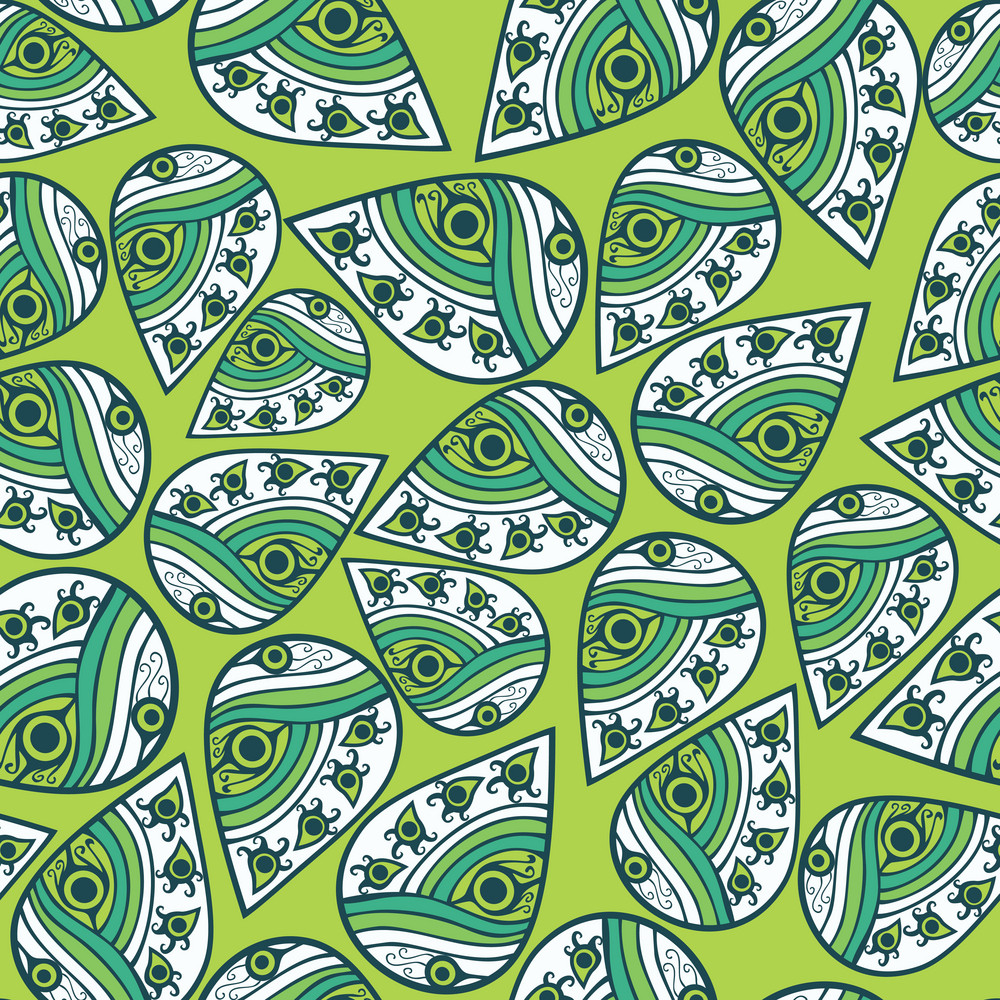 Seamless Leaf Pattern. Abstract Ornament.