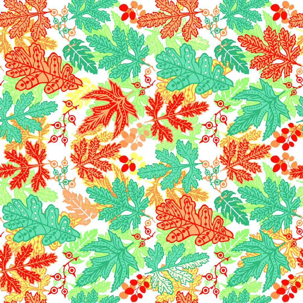 Seamless Leaf Pattern.leaf Background. Autumn Seamless Pattern. Vector Backdrop. Bright Pattern. Autumn Template. Use For Wallpaper