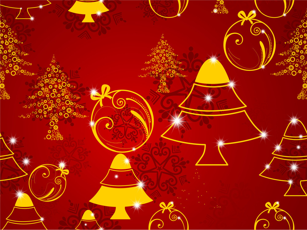 Seamless Merry Christmas Background.