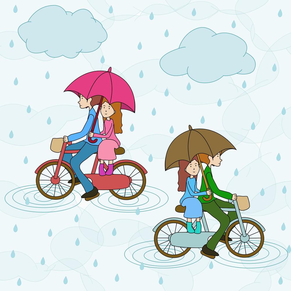 Seamless Monsoon Season Background