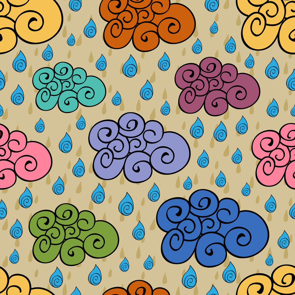 Seamless Monsoon Season Background