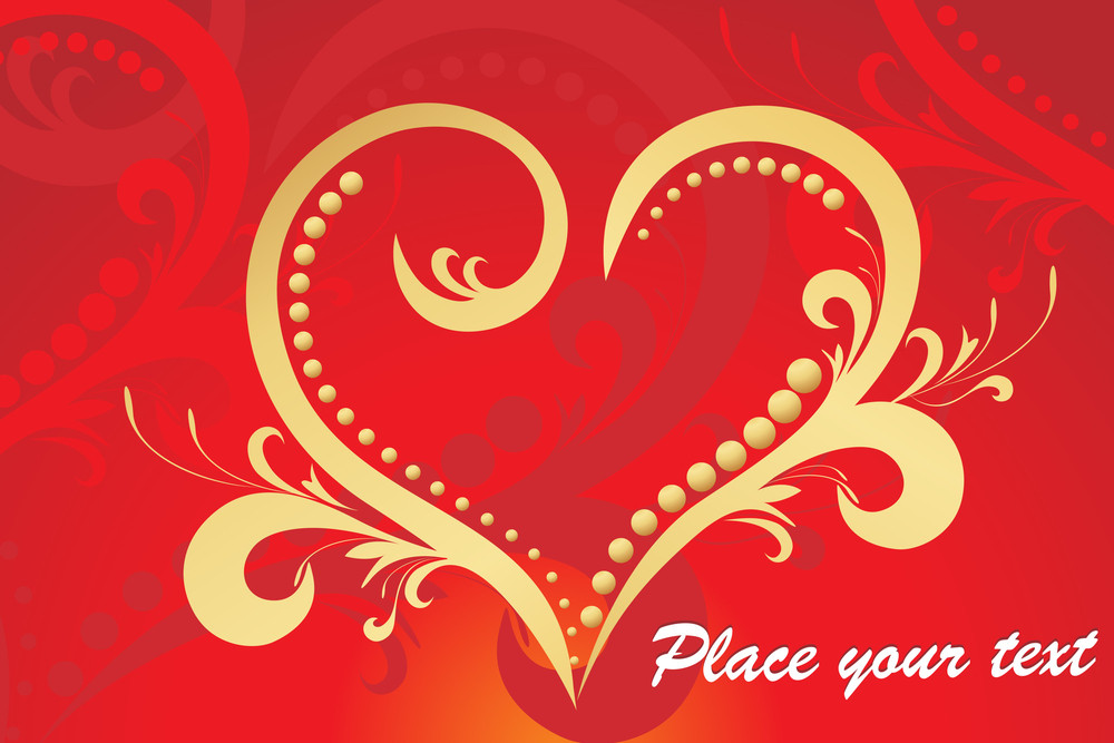 Seamless Pattern Background With Romantic Heart
