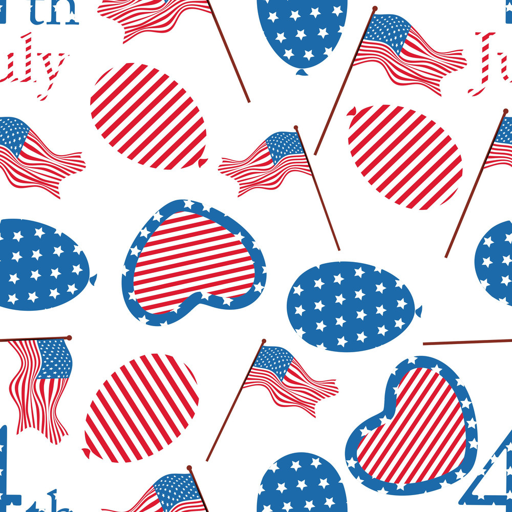 Seamless Pattern For 4th Of July