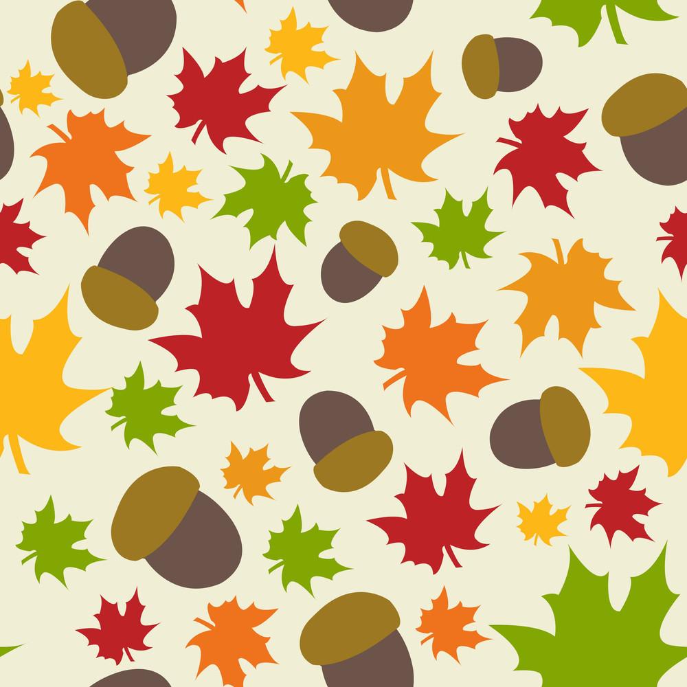 가을 잎 원활한 패턴