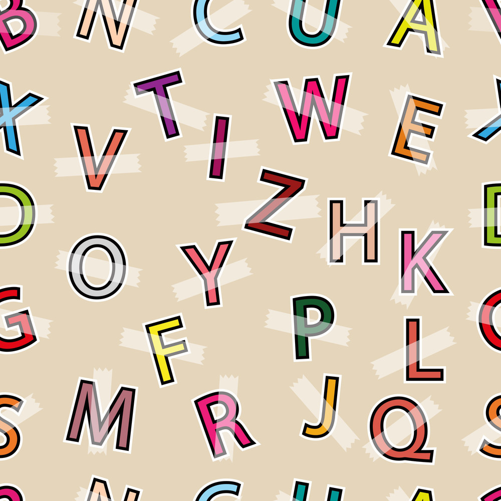 Seamless Pattern With English Letters