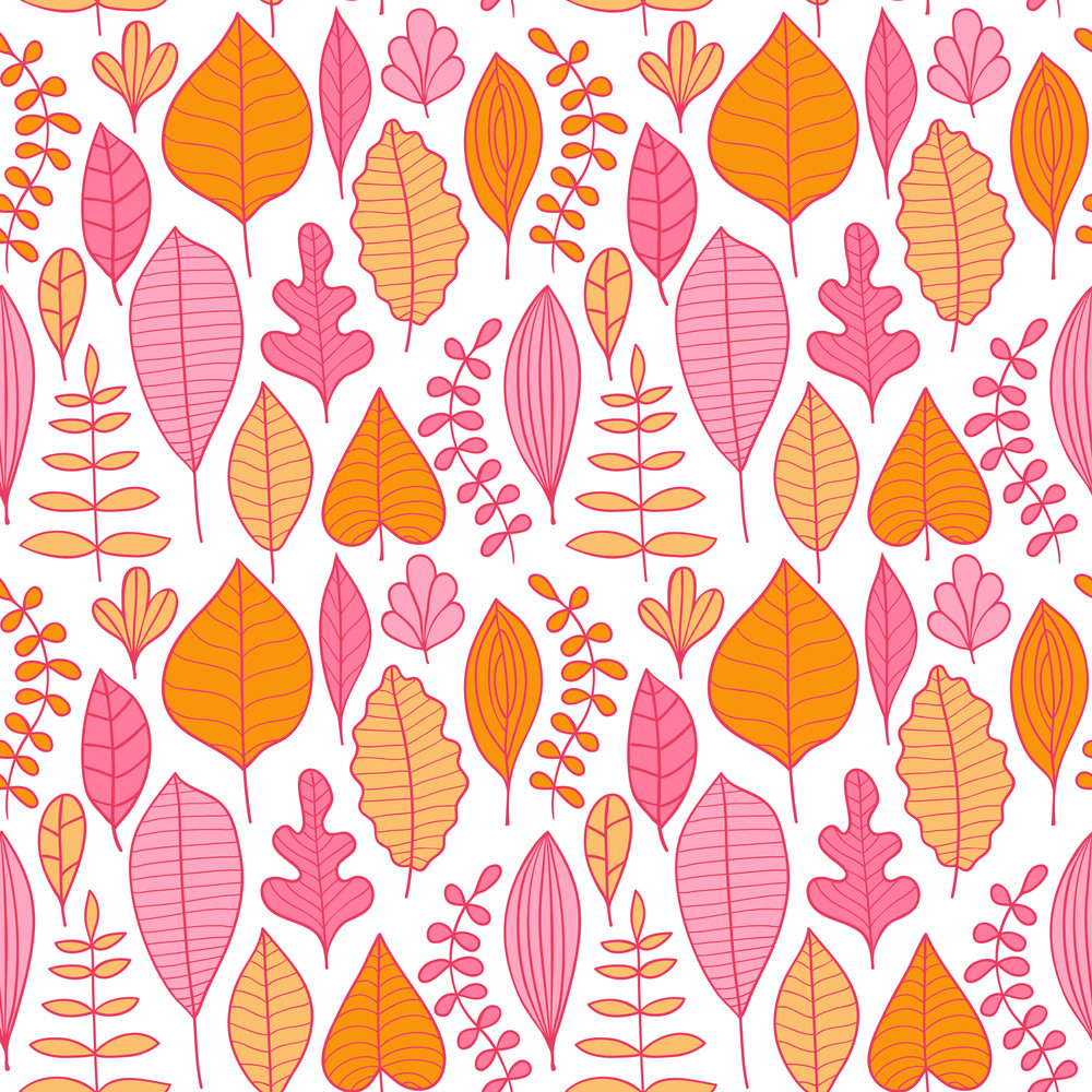 Seamless Pattern With Leaf