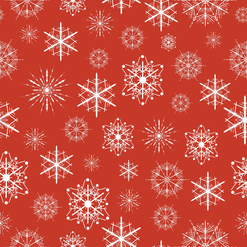Seamless Pattern With Snow Flakes
