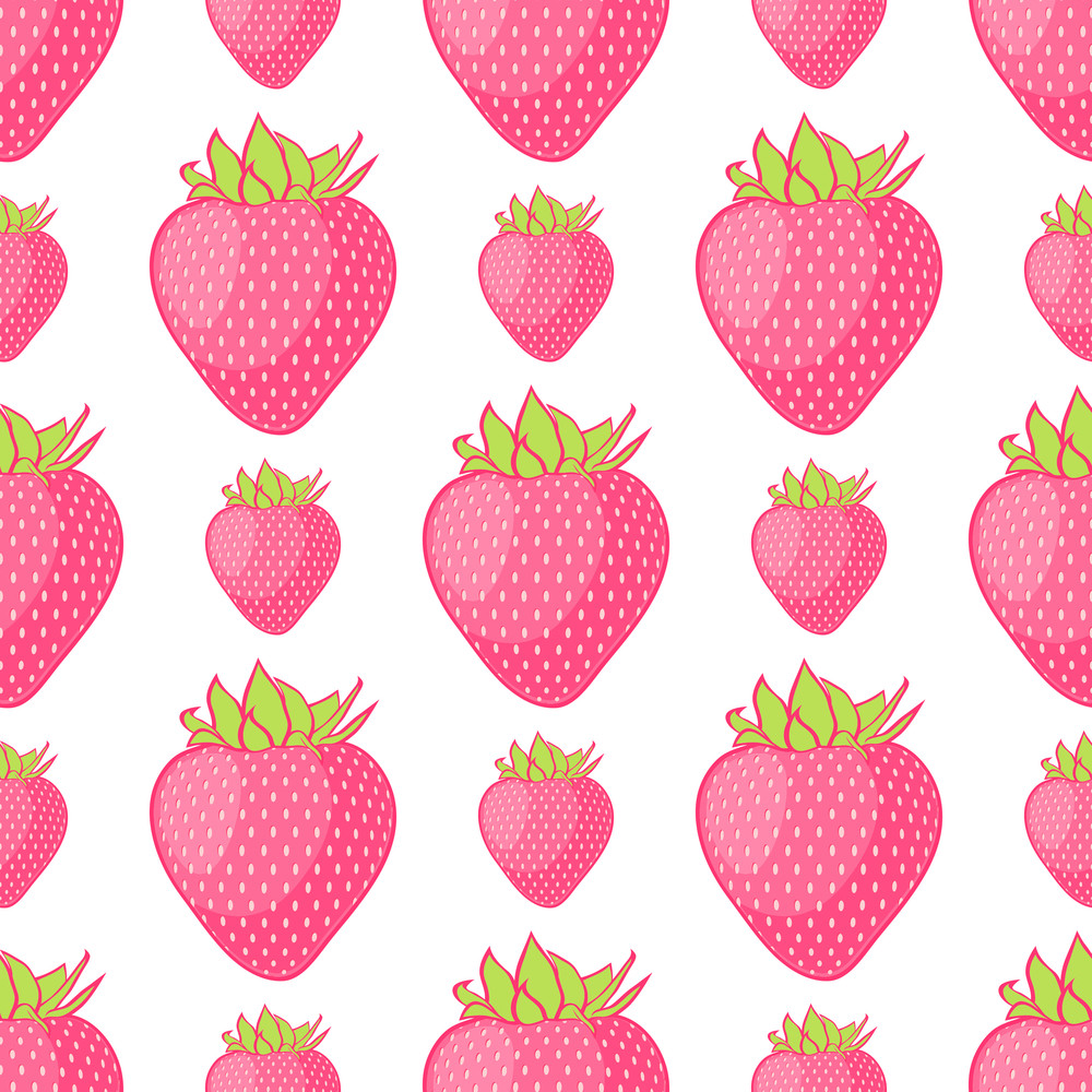 Seamless Pattern With Strawberries. Vector Illustration