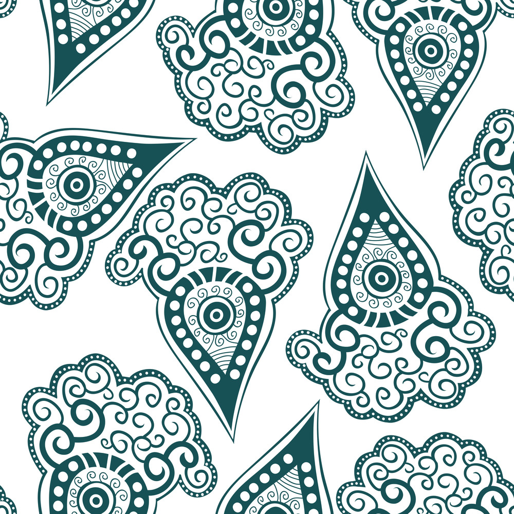 Seamless Pattern With Stylized Carrot.
