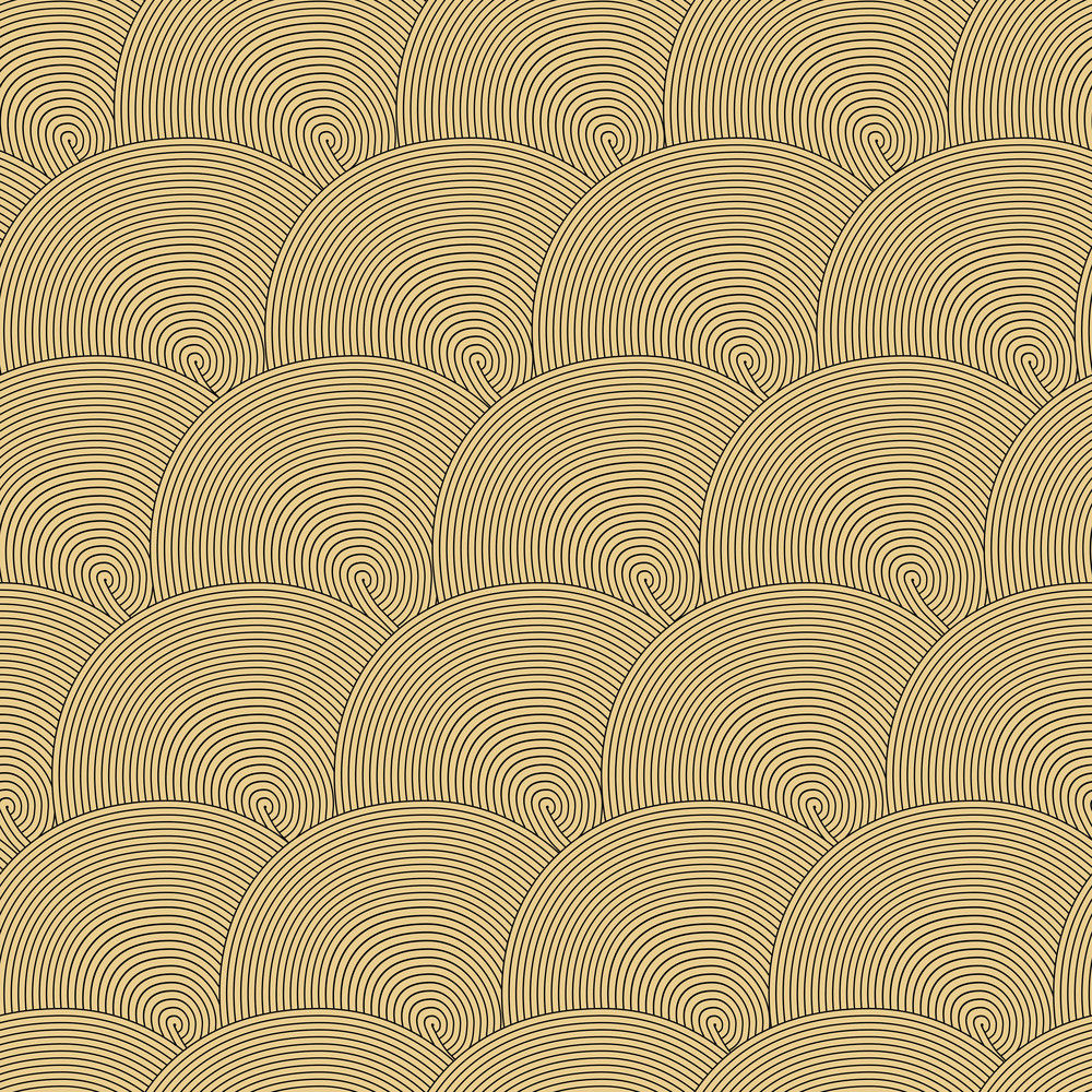 Seamless Pattern With Waves. Seamless Wave Hand-drawn Pattern
