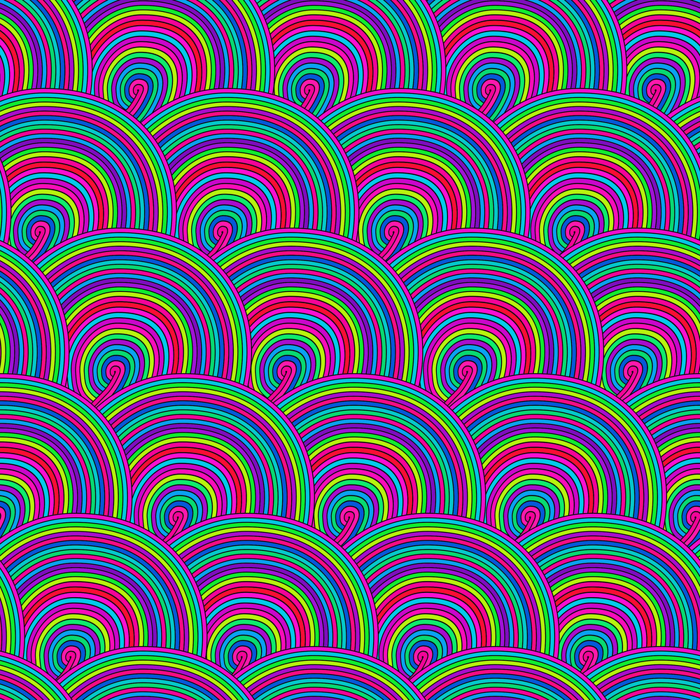 Seamless Pattern With Waves. Seamless Wave Hand-drawn Pattern