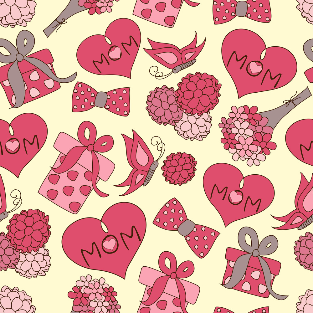 Seamless patterns for mothers day celebration royalty free