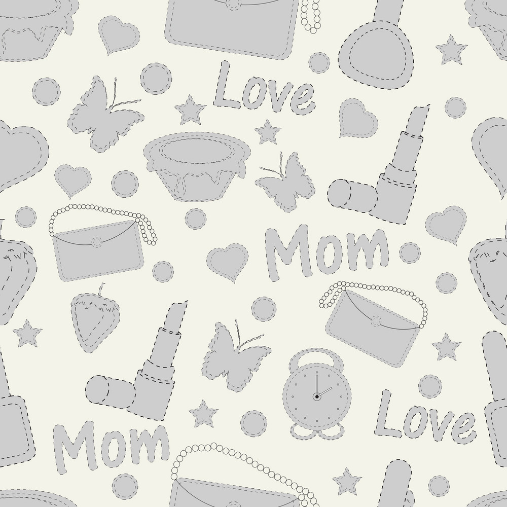 Seamless Patterns For Mothers Day Celebration
