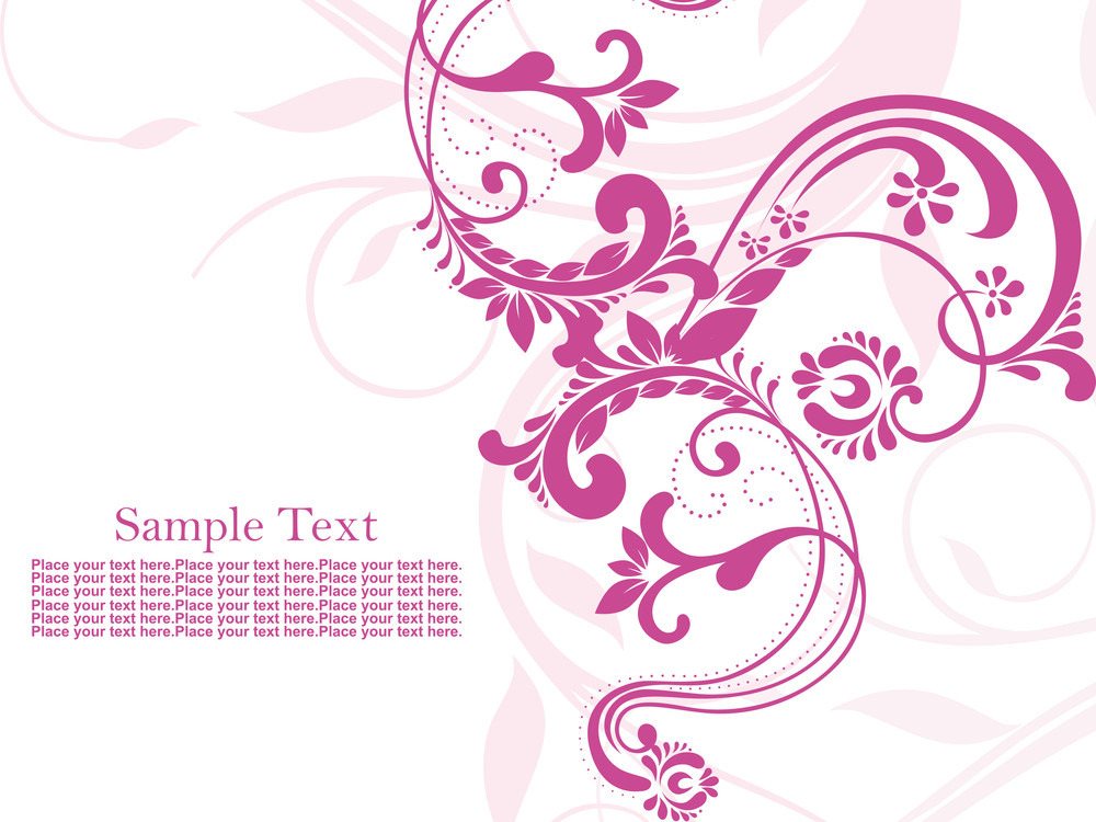 Seamless Pink Floral Pattern Background