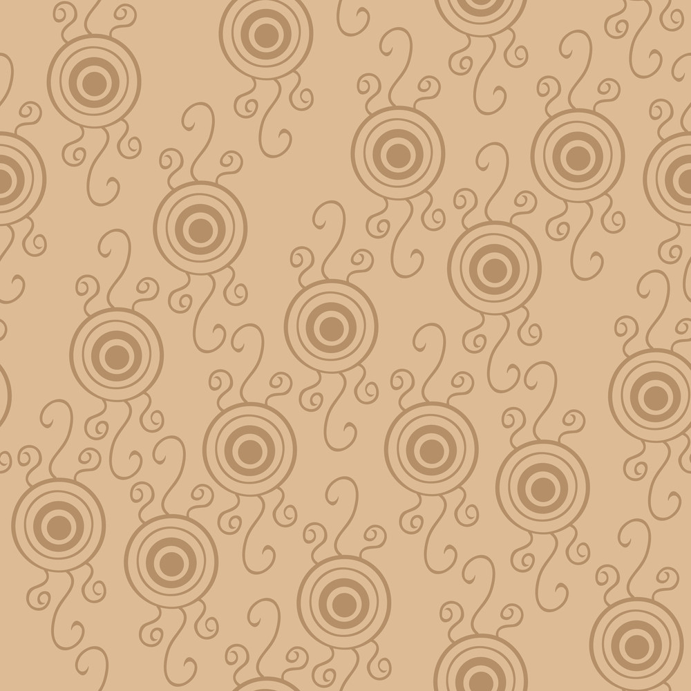 Seamless Psychedelic Pattern With Eyes.