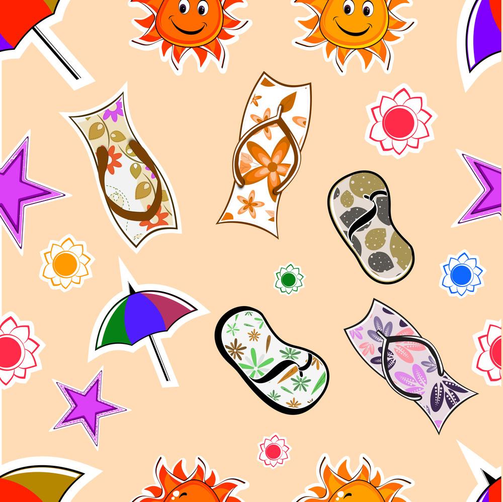 Seamless Summer Season Background
