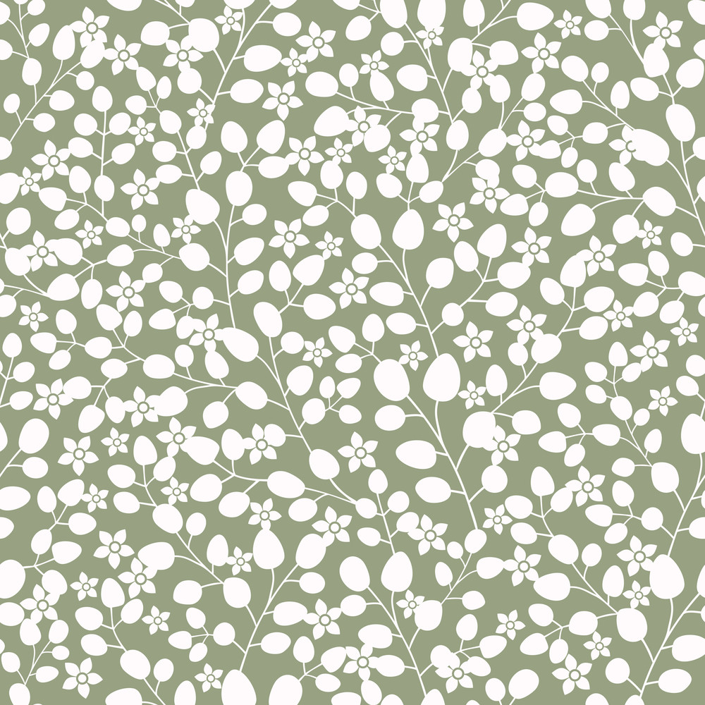 Seamless Texture With Flowers And Leaf