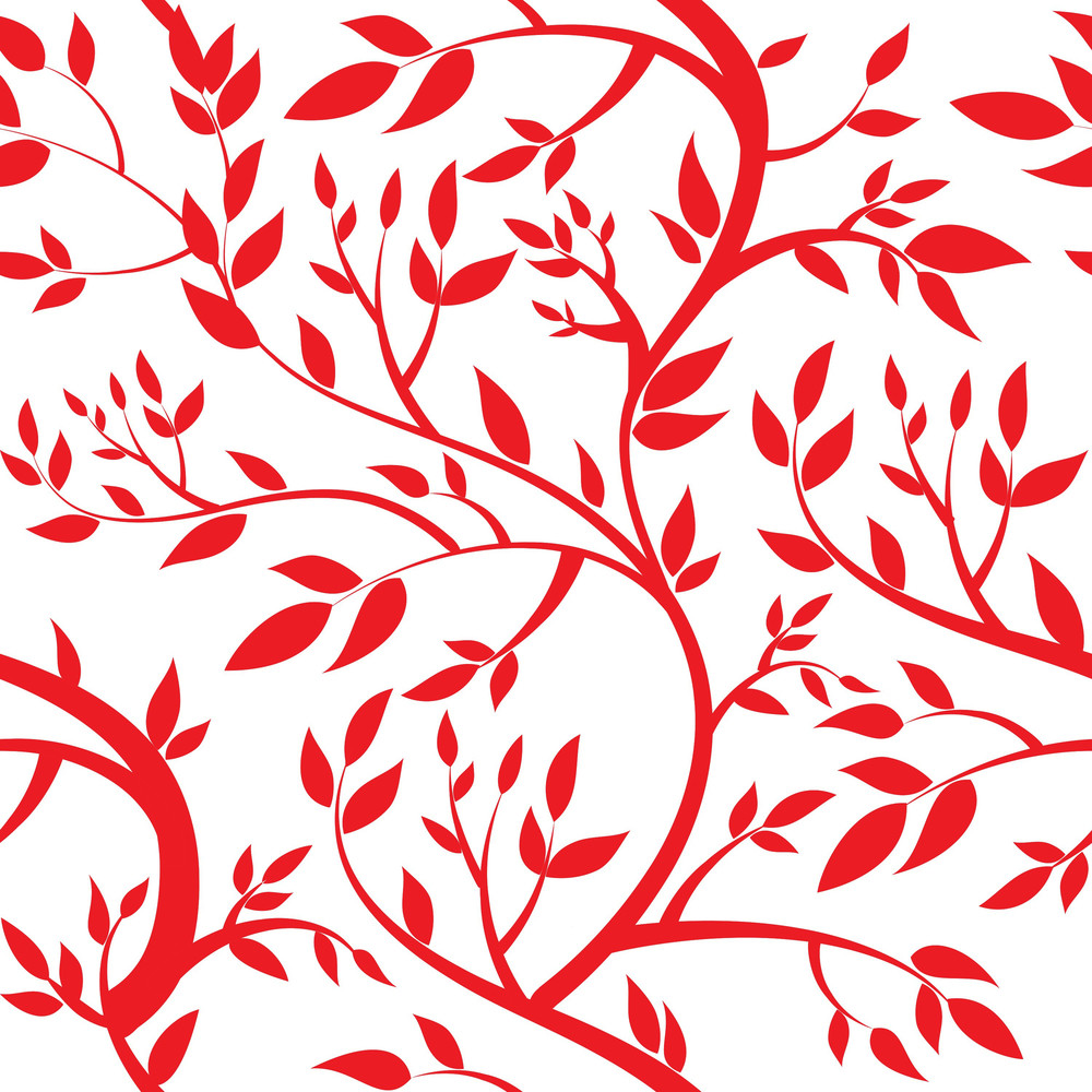 Seamless Wallpaper - Red Leaves