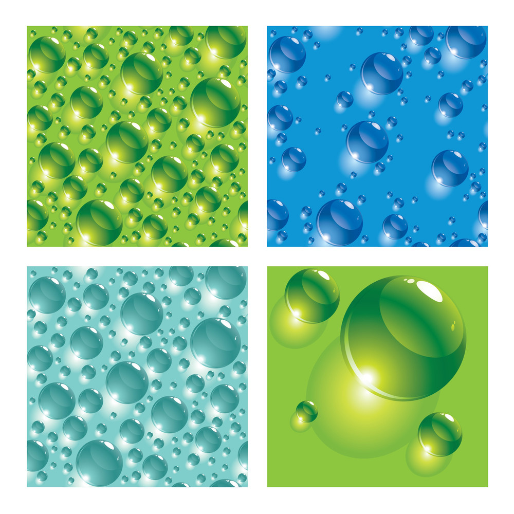 Seamless Water Drops Texture. Vector