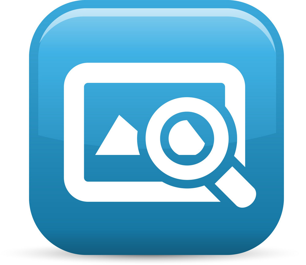 Search Images Elements Glossy Icon