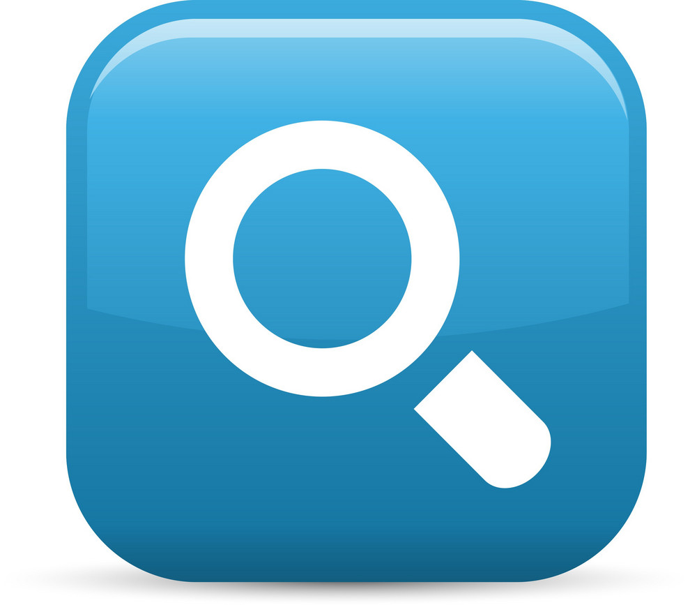 Search Magnifying Glass Elements Glossy Icon