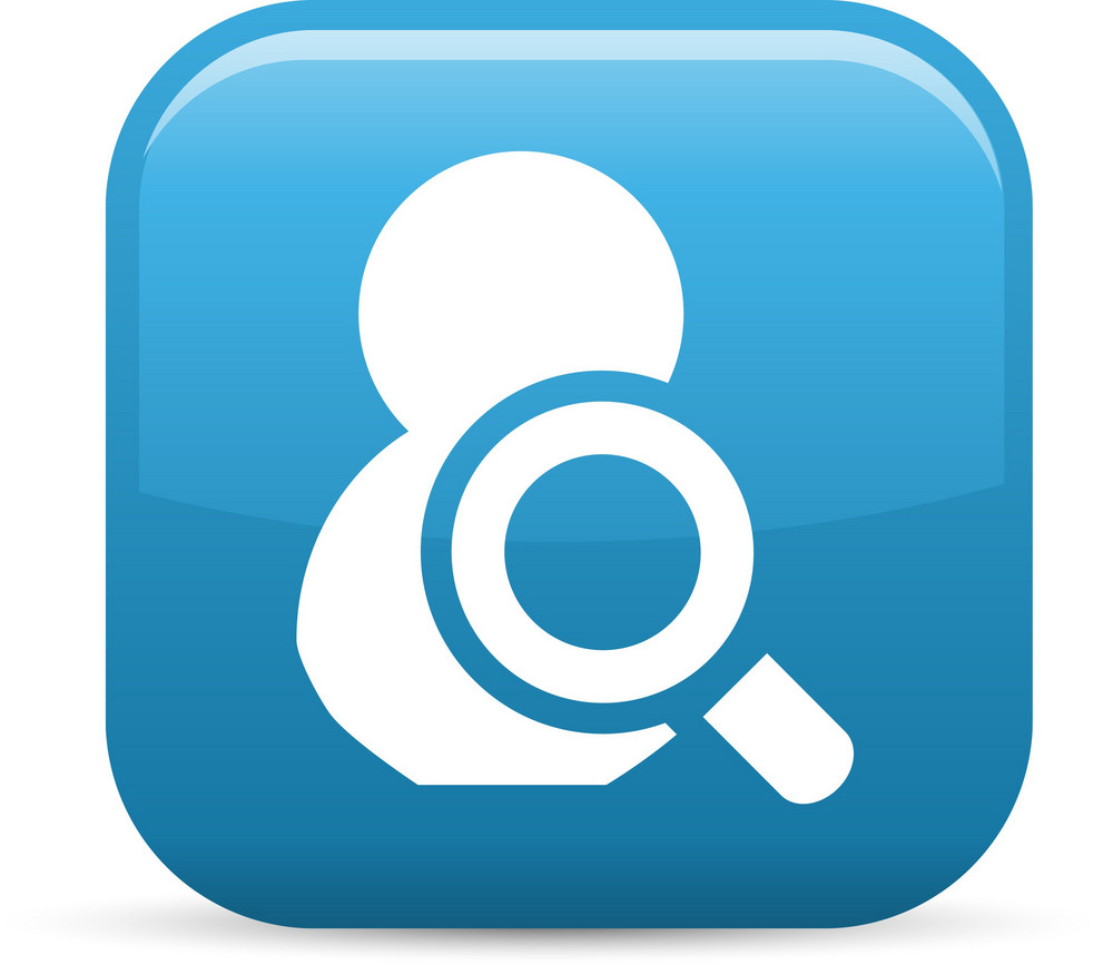 Search Person Elements Glossy Icon