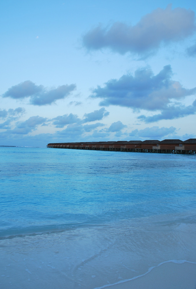 Seascape And Water Villas In Maldives (sunset)