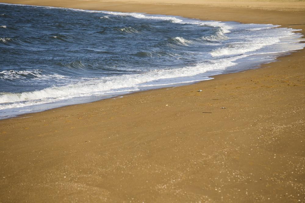 Seaside beach and wave at Fukuoka Japan