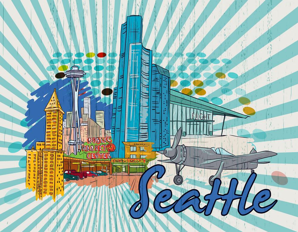 Seattle Doodles Vector Illustration